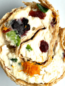 Cranberry Orange Pinwheels Appetizer
