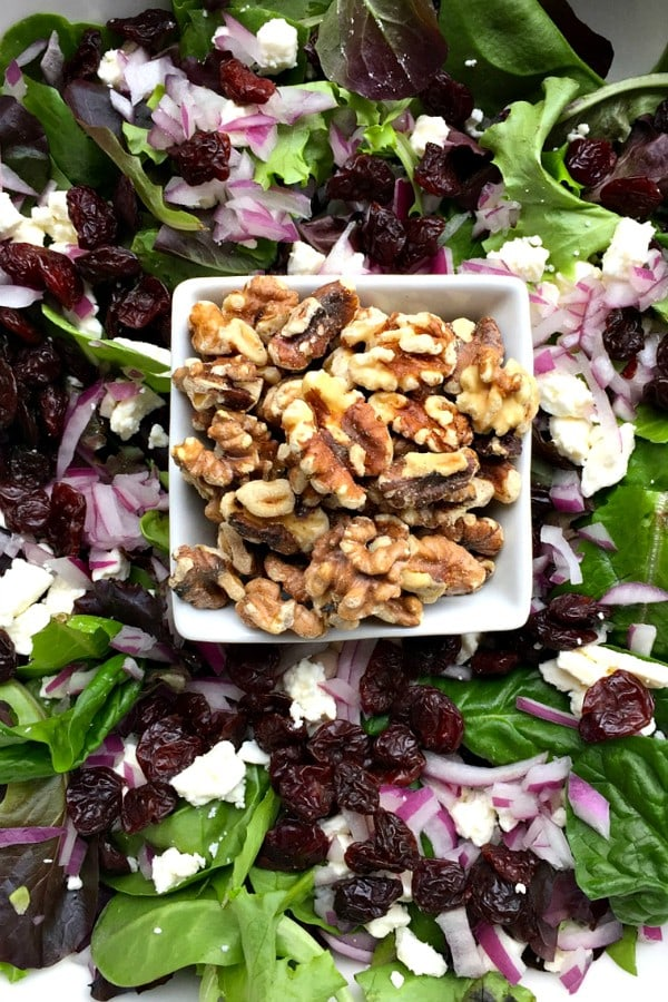 Winter Green Salad with Poppyseed Dressing