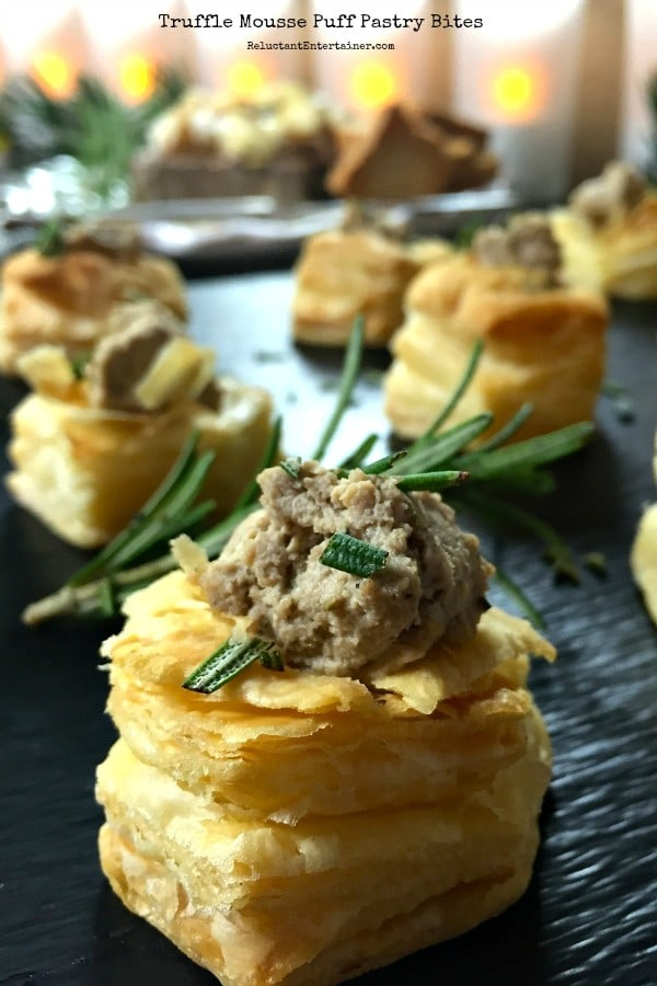 Truffle Mousse Puff Pastry Bites