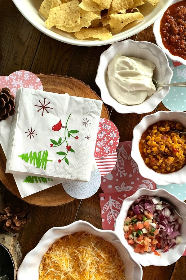 Cheerful Chili Party Party with Reindeer Lit'l Smokies Appetizer