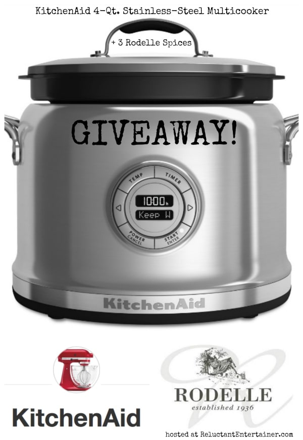 KitchenAid 4-Qt. Stainless-Steel Multi-Cooker GIVEAWAY and One-Pot Chicken Thighs with Sweet Potatoes