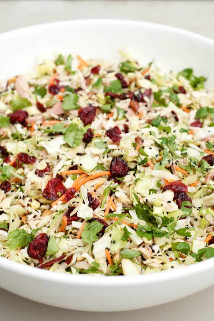 Easy Asian Chicken Cranberry Salad