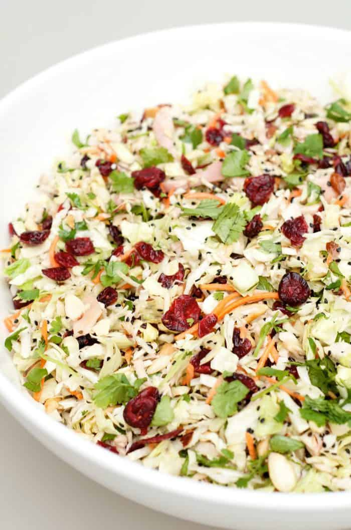 bowl of Asian Chicken Cranberry Salad