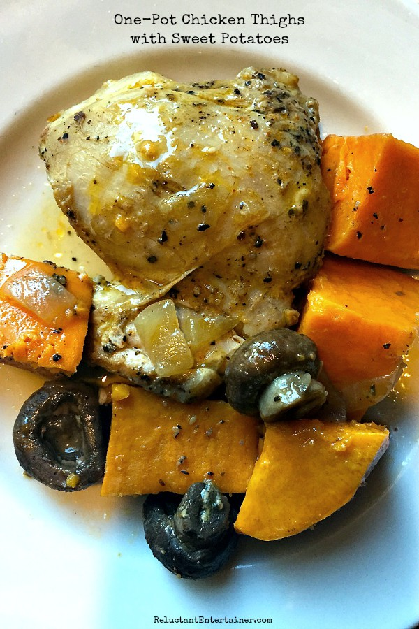 One-Pot Chicken Thighs with Sweet Potatoes