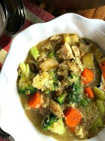 Broccoli Chicken Quinoa Soup