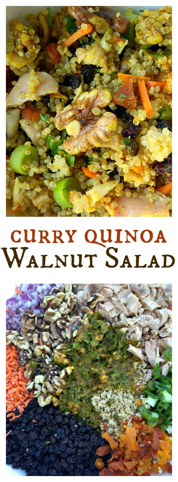 Curry Quinoa Walnut Salad