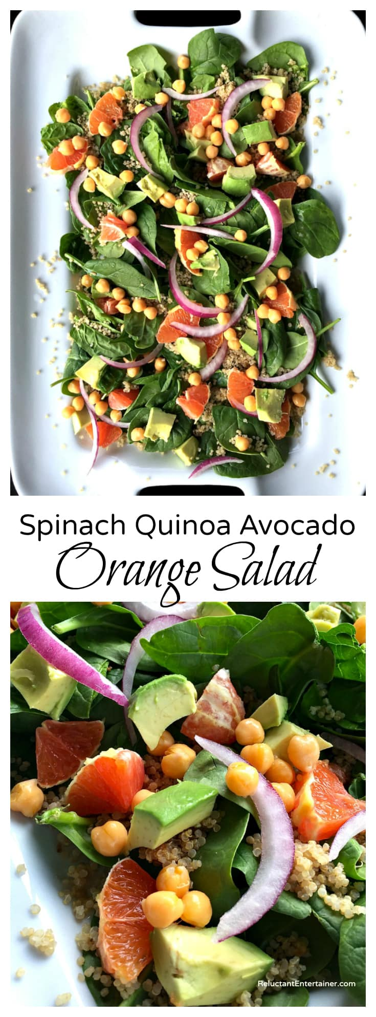 Spinach Quinoa Avocado Orange Salad