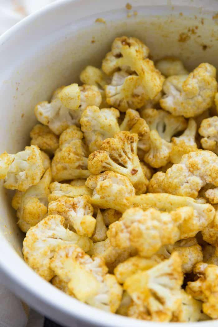 DELISH Skinnytaste's Turmeric-Roasted Cauliflower