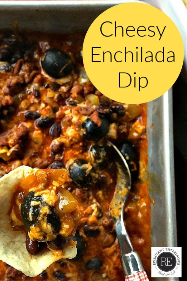 Cheesy Enchilada Dip Recipe with chips