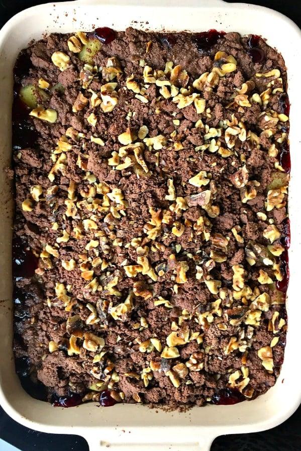Cherry Pineapple Brownie Dessert with Walnuts