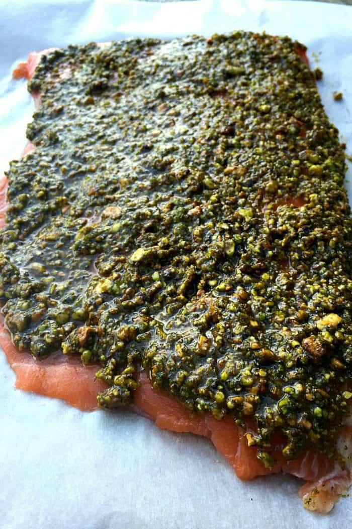 Easy Baked Pistachio Lemon Salmon