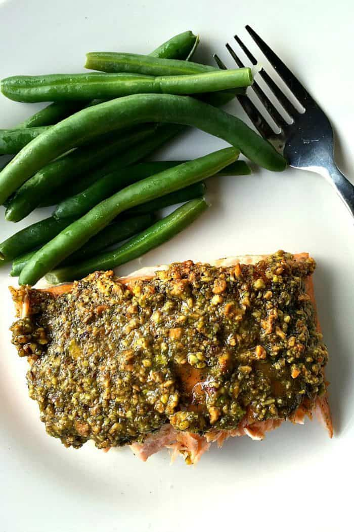 BEST Baked Pistachio Lemon Salmon
