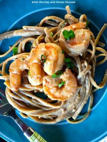 Linguine with Shrimp and Green Onions