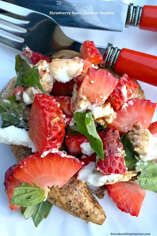 Strawberry Basil Chicken Tenders