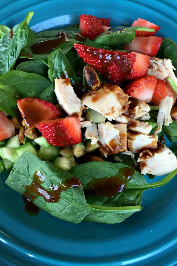 Strawberry Cucumber Salad with Preserves Balsamic Dressing