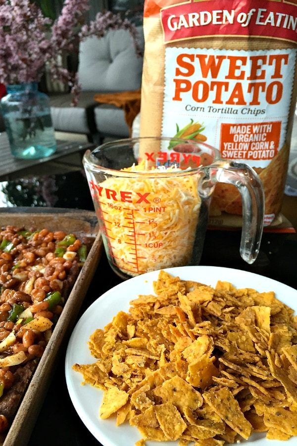 Sweet Potato Tortilla Corn Chip Aztec Pie