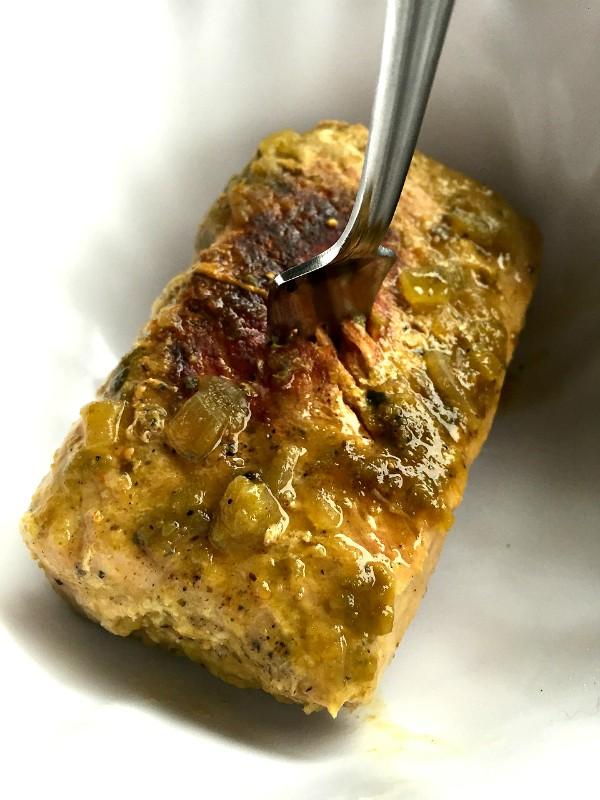 2-Ingredient Crock Pot Pork Verde
