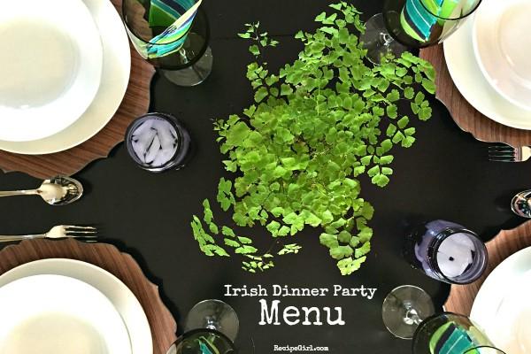RecipeGirl Irish Dinner Party Menu