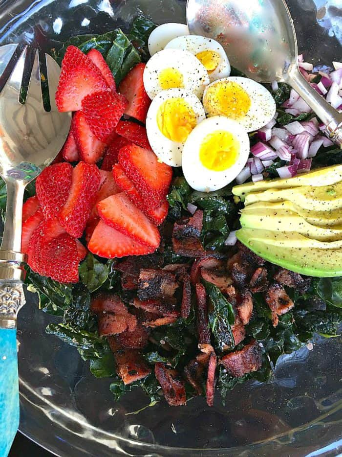 Strawberry Avocado Kale Salad with Bacon Recipe