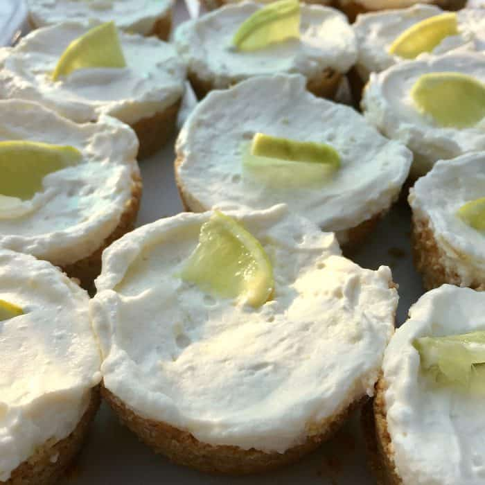 Easy Mini Margarita Cheesecakes