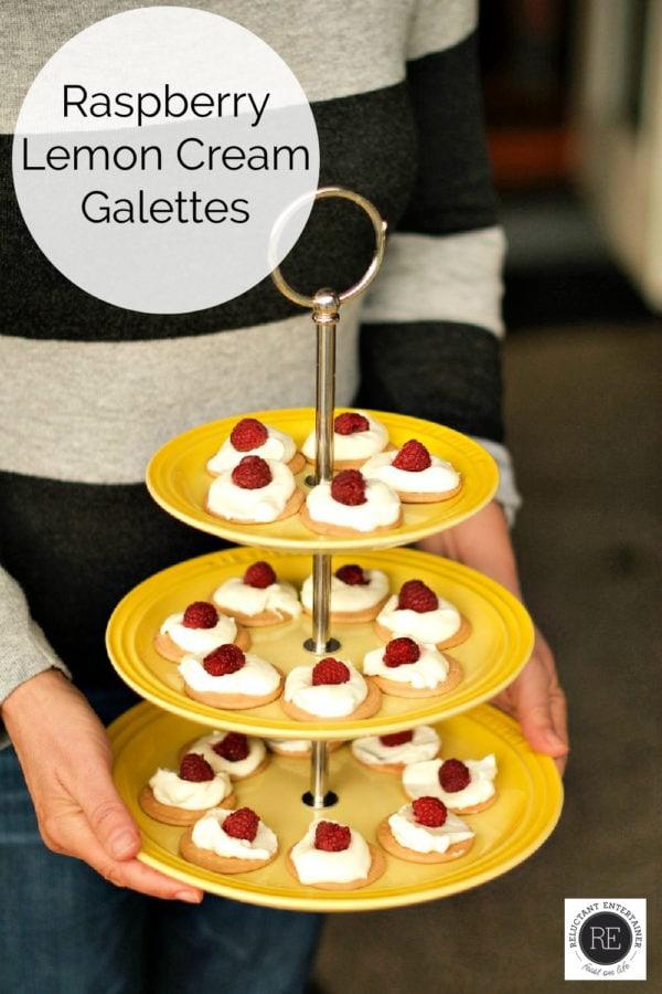 little Raspberry Lemon Cream Galettes