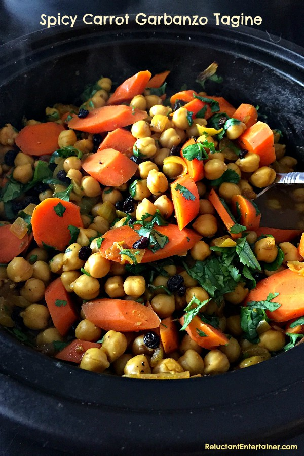 Spicy Carrot Garbanzo Tagine