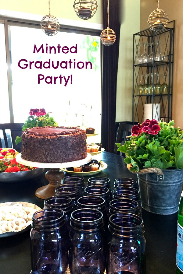 Minted Graduation Party with Raspberry Fruit Dip