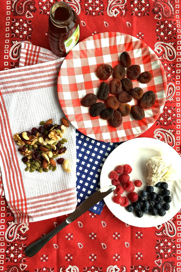 Red, White, and Blue Apricot Appetizer