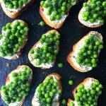 Toasted Pea Crostini