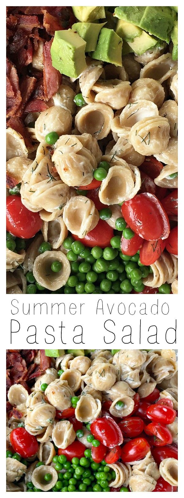Summer Avocado Pasta Salad is perfect for any picnic, lunch, dinner, or potluck dish.