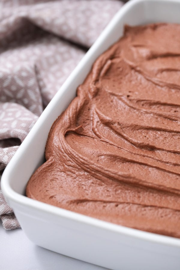 chocolate buttermilk frosting on cake