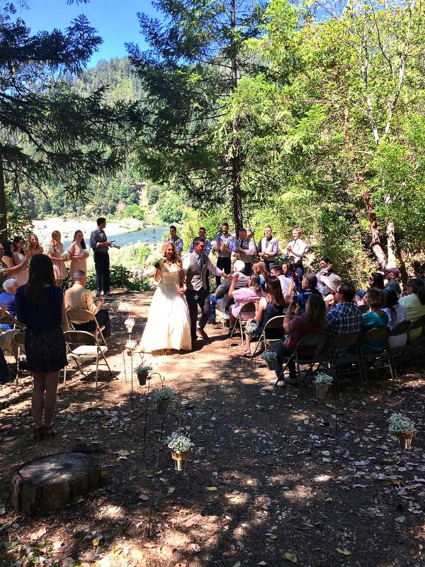 A River Wedding with Caprese Pita Cracker Bites