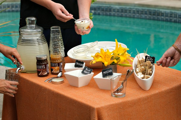 Ice Cream Sundae Bar with Frozen Coconut S'mores