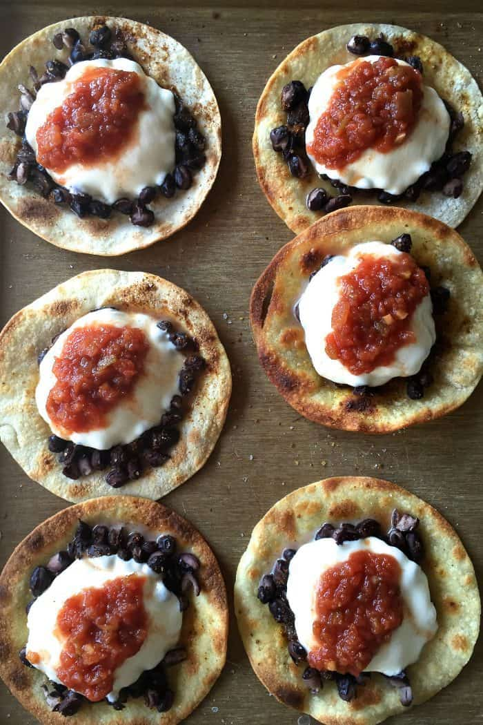 Tasty Crunchy Black Bean Mozzarella Tacos