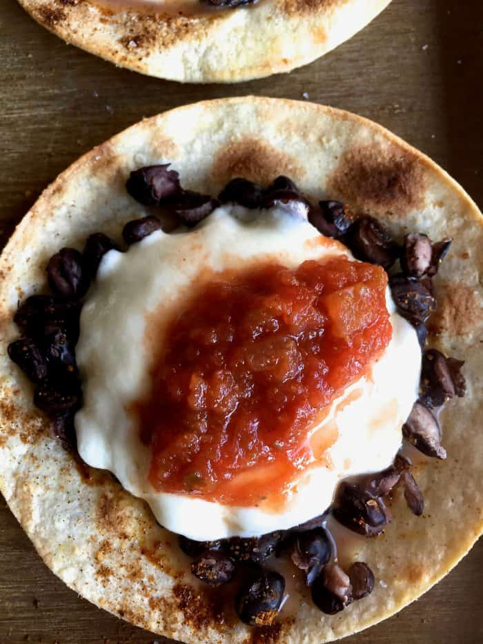 Baked Crunchy Black Bean Mozzarella Tacos Recipe