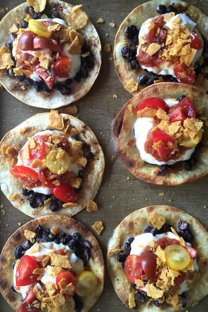 Cheesy Crunchy Black Bean Mozzarella Tacos