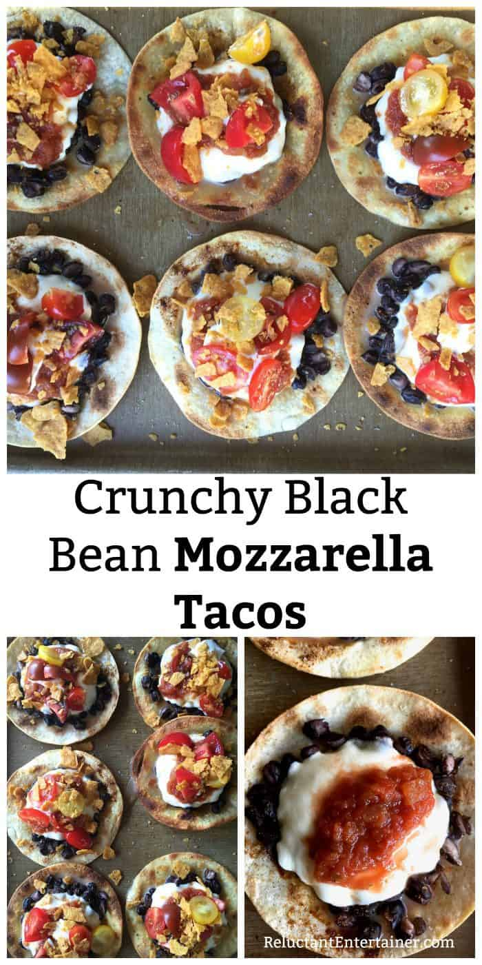 Crunchy Black Bean Mozzarella Tacos Recipe