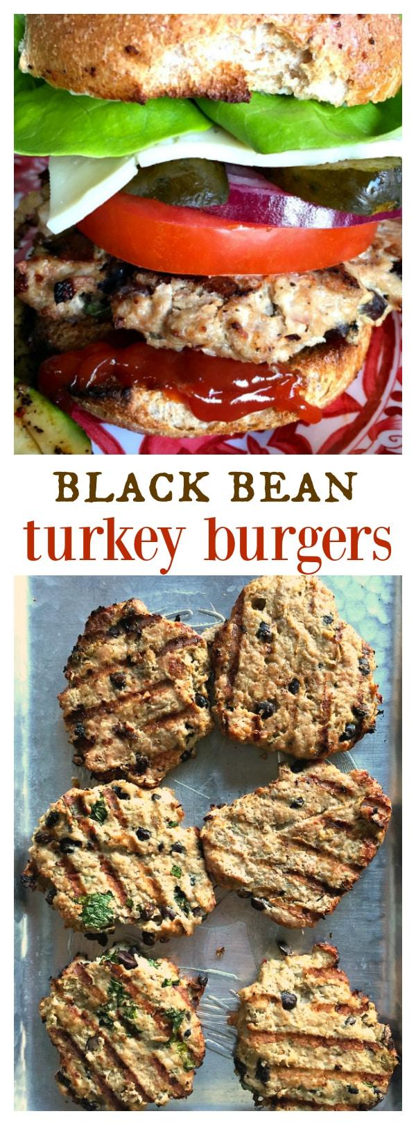 Black Bean Turkey Burgers