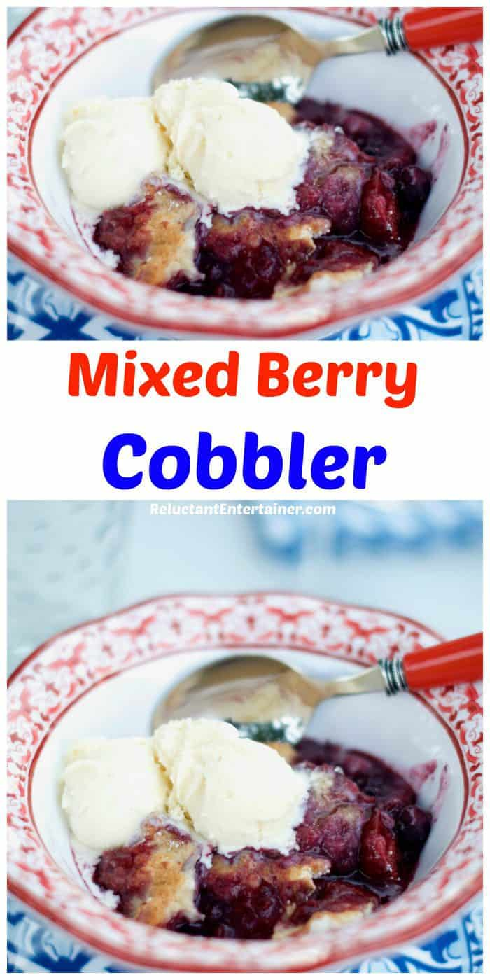 Quick Entertaining Mixed Berry Cobbler