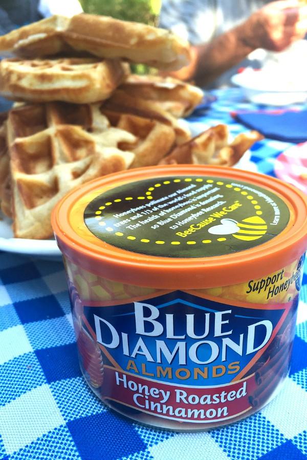 Greek Yogurt Waffles with Blue Diamond Almonds