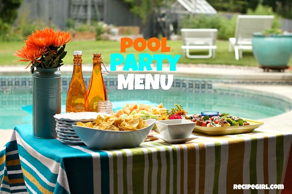 Pool Party Menu