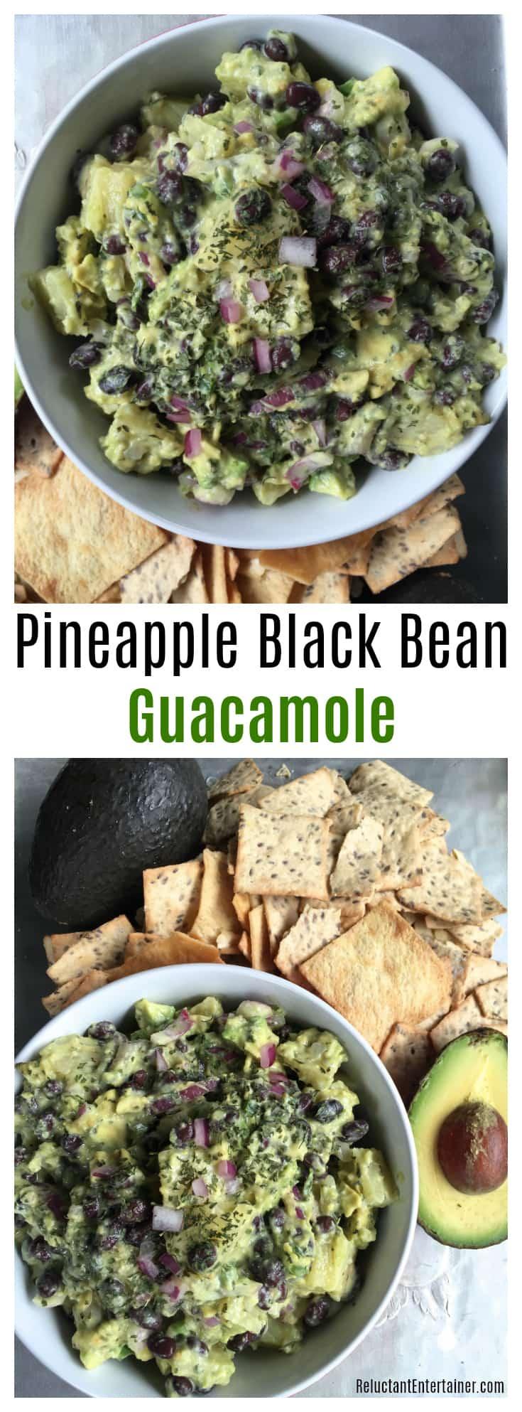 Pineapple Black Bean Guacamole
