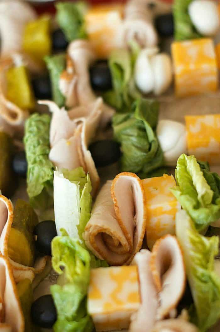 EASY Make-Ahead Turkey Sandwich Kebabs