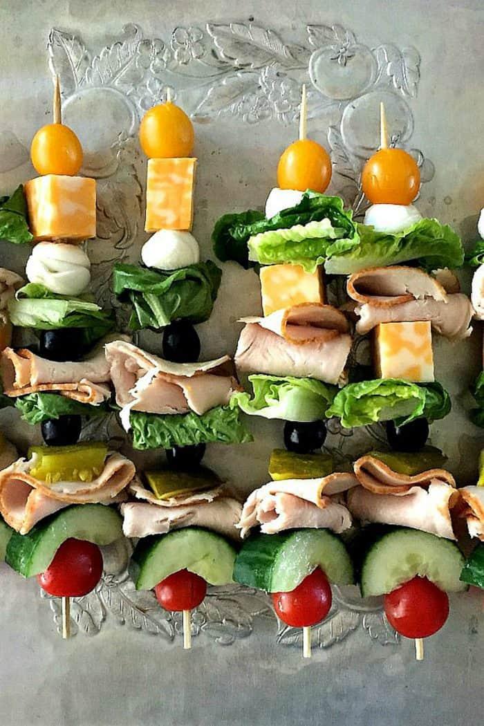 BEST Make-Ahead Turkey Sandwich Kebabs