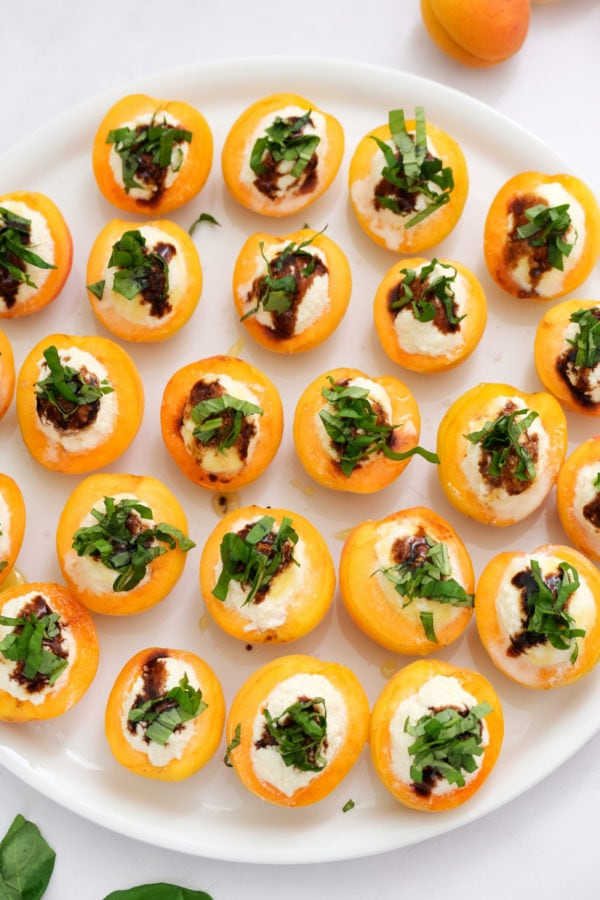 Apricot Ricotta Honey Basil Bites