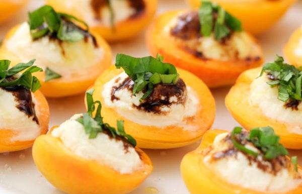 Apricot Ricotta Honey Basil Bite
