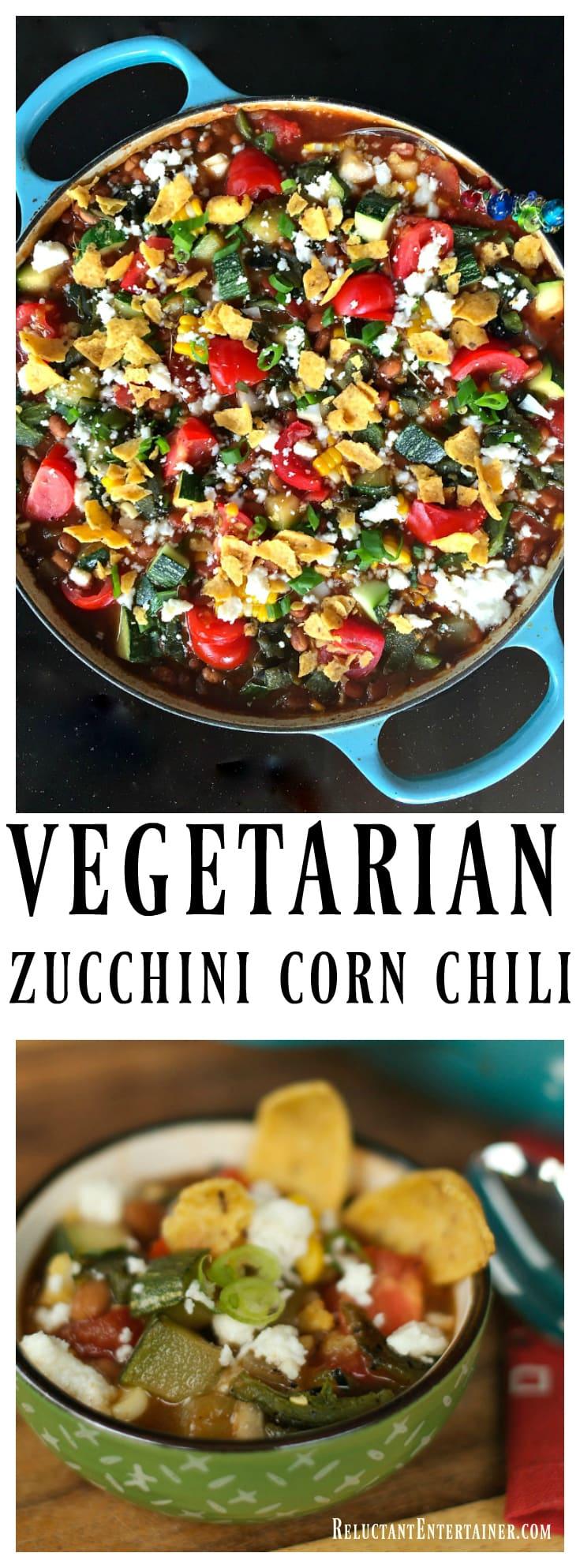 Vegetarian Zucchini Corn Chili