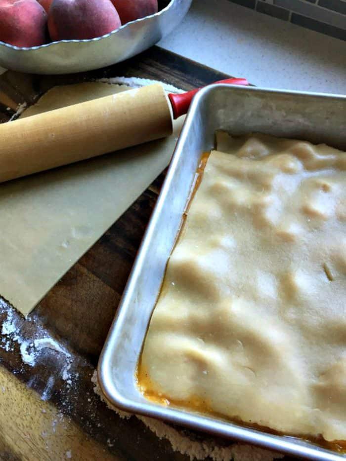 Wonderful Peach Cobbler Recipe - crust