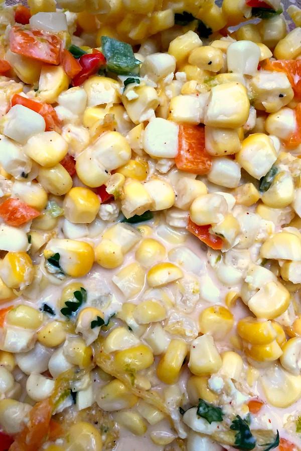Corn and Mango Dip | ReluctantEntertainer.com