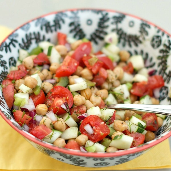 Light Cucumber and Chickpea Salad